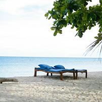 Diani beach loungers, Kenya coast