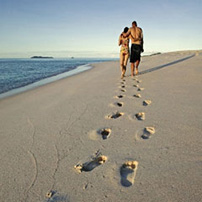 Footprints in the sand, Mozambique
