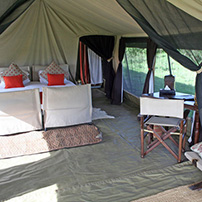 Seasonal tented camp, Tanzania