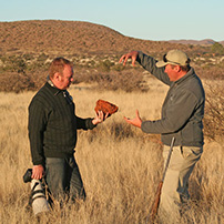 Specialist guiding, Kalahari, South Africa