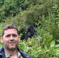 Rob and a Mountain Gorilla