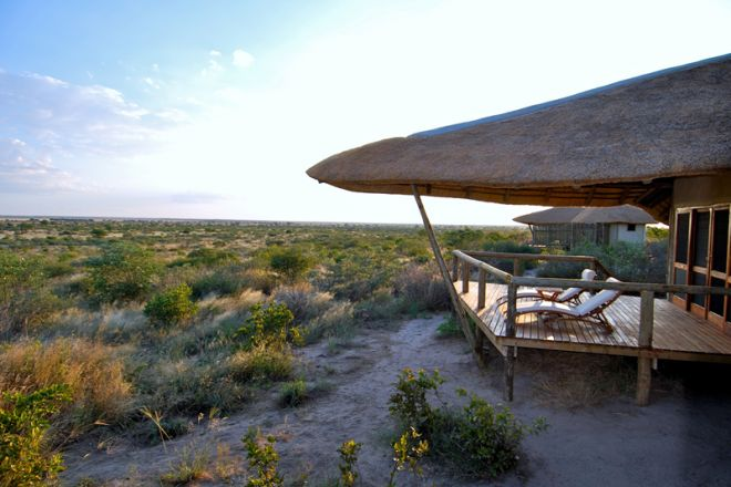 Tau Pan Camp, Botswana - Outside Deck