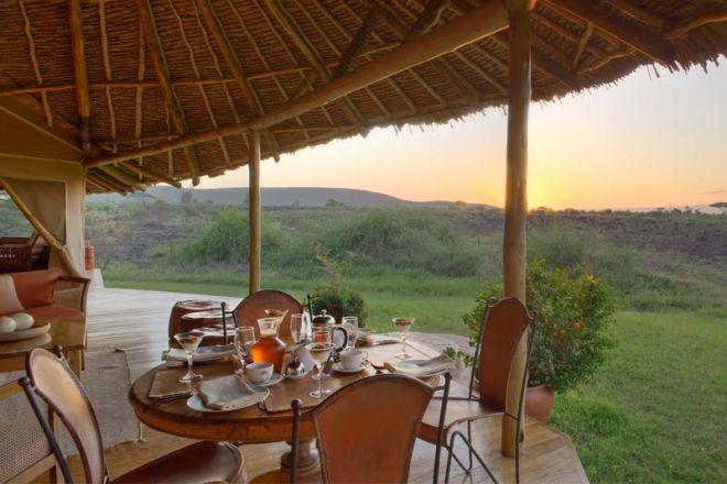 Elewana Tortilis Camp Private House Verandah Breakfast