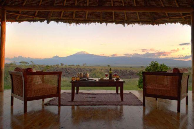 Elewana Tortilis Camp Private House View Kilimanjaro