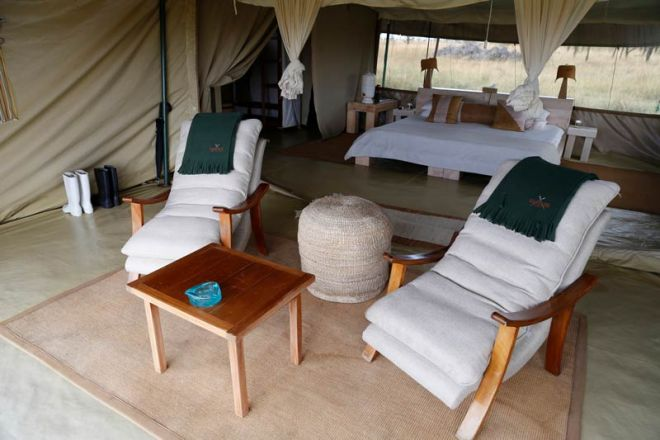 Kicheche Bush Camp Room including Verandah