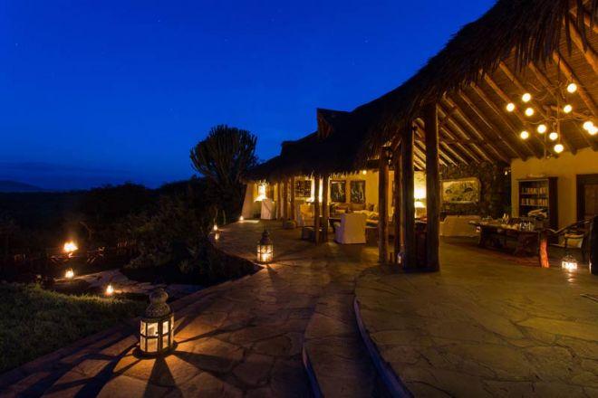Ol Donyo Lodge Exterior Sunset Night