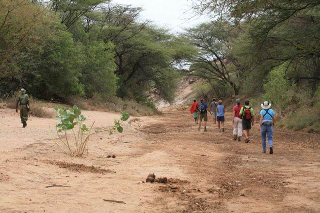 Sarara Camp walking riverbed
