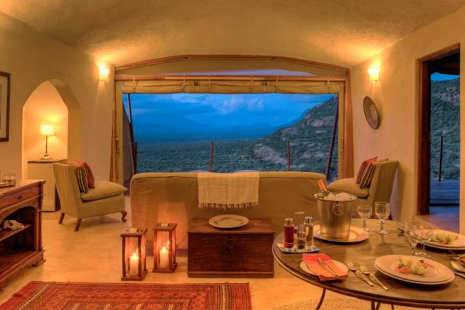 Saruni Samburu Lounge and View