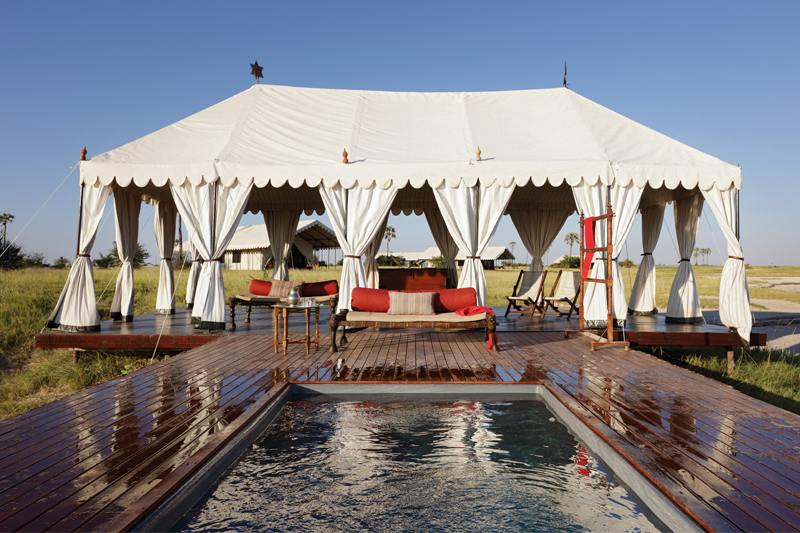 All About Safaris san camp pool and pavilion