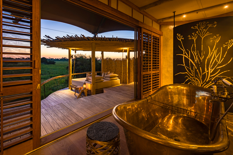 All About Safaris mombo bathtub view