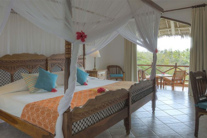 Bluebay Beach Resort & Spa garden room bedroom