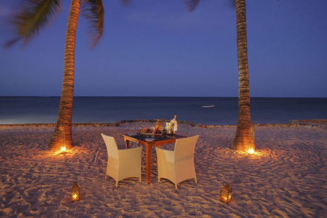 Bluebay Beach Resort & Spa private beach dinner