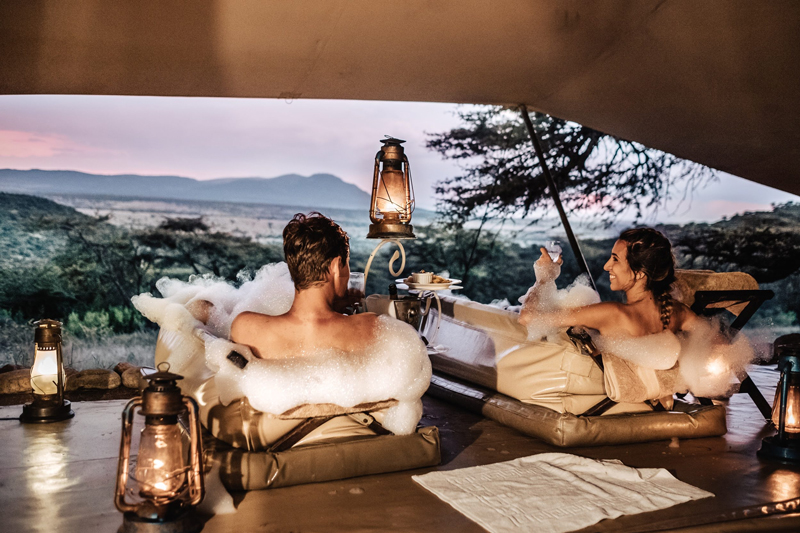 Honeymoons & Weddings kenya cottars bush bath
