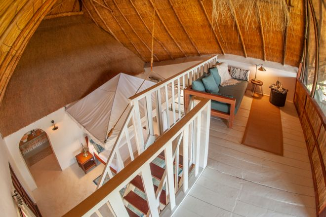 Kafunta River Lodge Luxury Suite from above