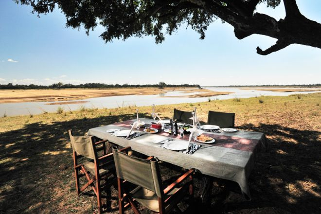 Kafunta River Lodge Bush Brunch River View