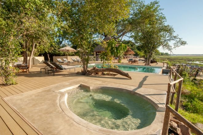 Kafunta River Lodge Pool and Hot Tub