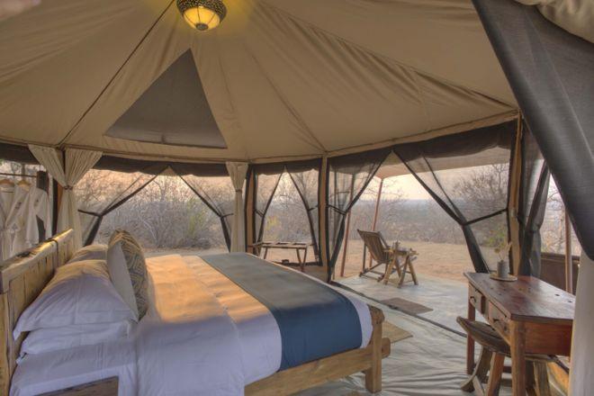 Kichaka Expeditions frontier tent interior