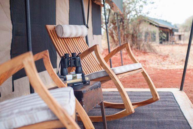 Kichuguu Camp tent deck