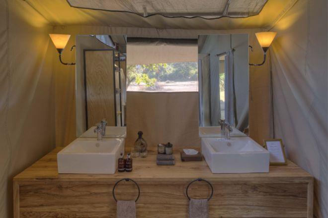 Kwihala Tented Camp bathroom