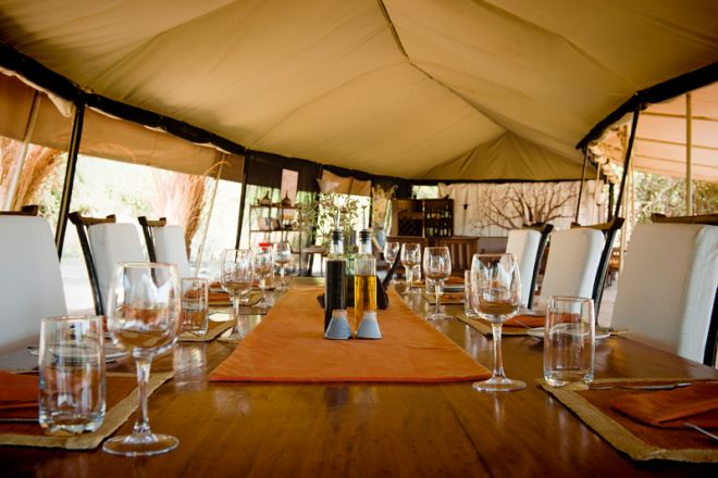 Kwihala Tented Camp dining