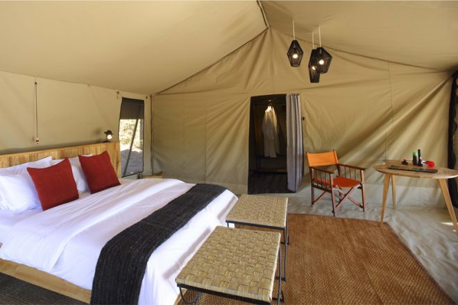 Kwihala Tented Camp interior
