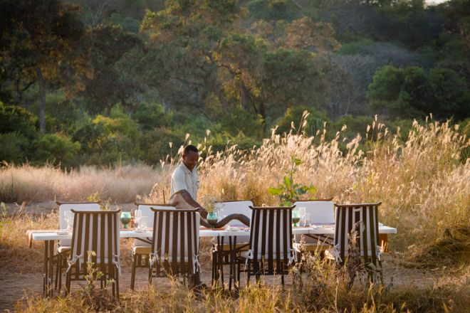 Kwihala Tented Camp outdoor dining