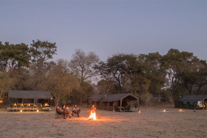 Letaka Private Mobile Safaris Camp Evening