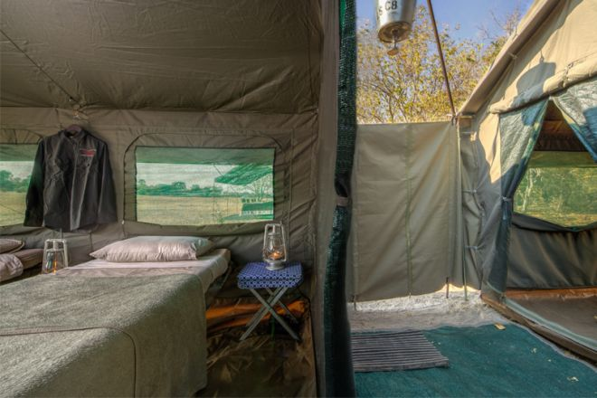 Letaka Private Mobile Safaris Family Tent Bathroom