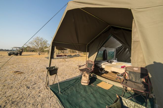 Letaka Private Mobile Safaris Tent Exterior