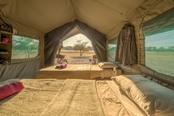 Letaka Private Mobile Safaris Tent Interior View