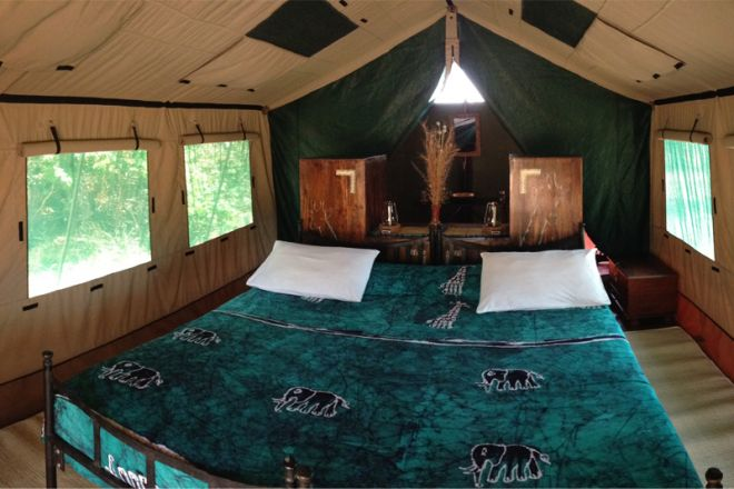 Mdonya Old River Camp tent interior