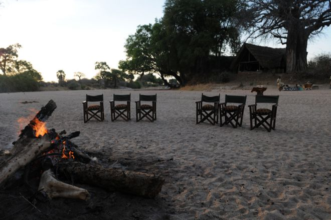 Mwagusi Safari Camp campfire