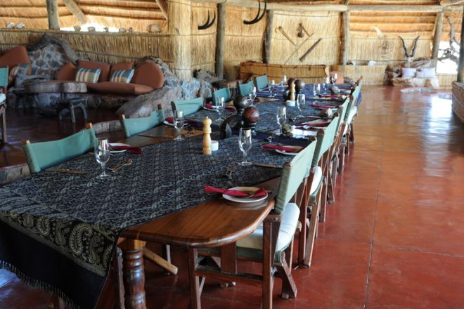 Mwagusi Safari Camp lounge and dining