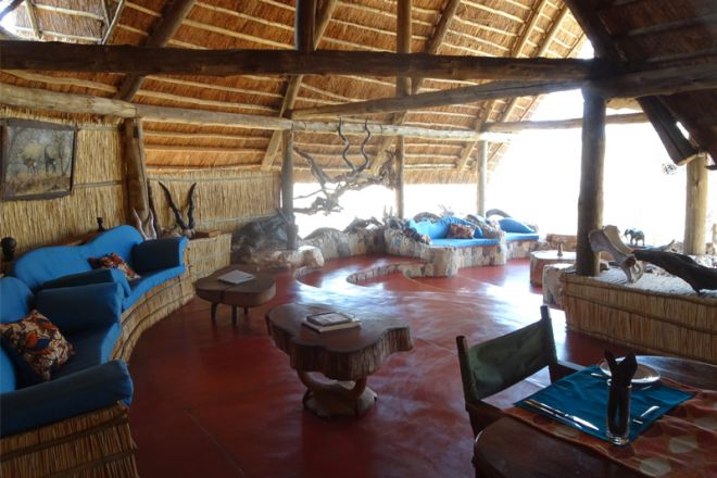 Mwagusi Safari Camp lounge interior
