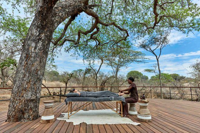 Mwiba Lodge deck massage