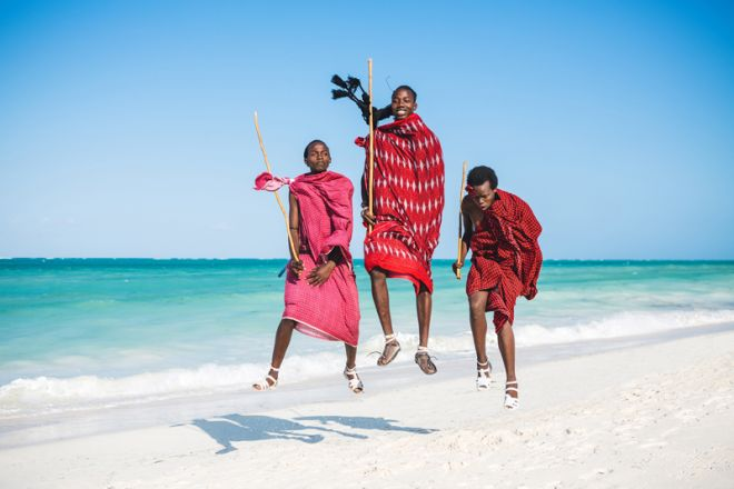 Next Paradise Boutique Resort beach Maasai jumping