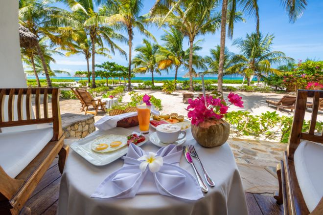Next Paradise Boutique Resort breakfast sea view