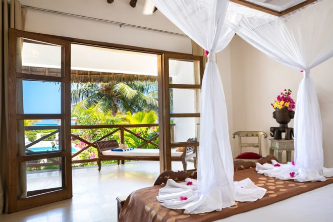 Next Paradise Boutique Resort honeymoon suite bedroom view