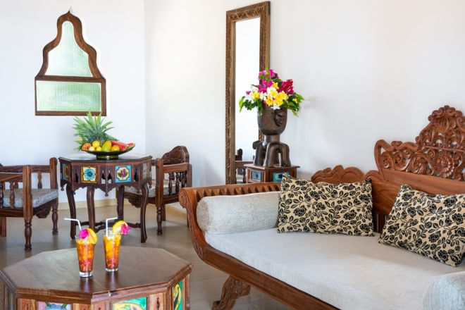 Next Paradise Boutique Resort honeymoon suite dining and lounge