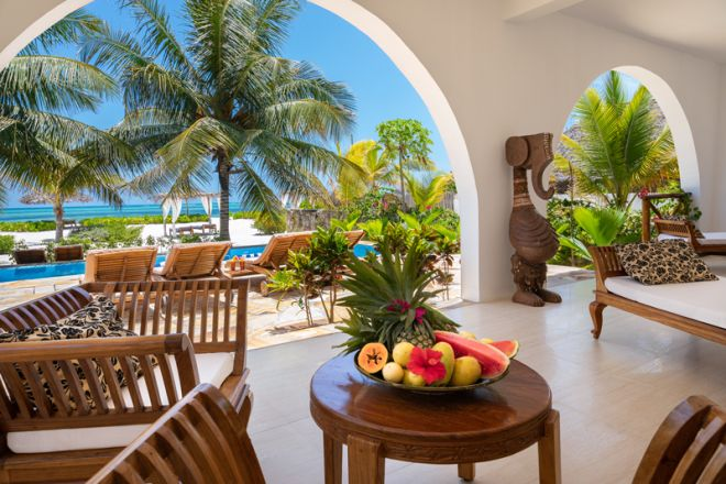 Next Paradise Boutique Resort poolside lounge