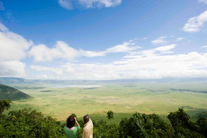 Ngorongoro Farm House crater view