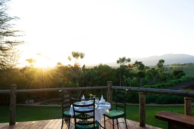 Ngorongoro Farm House outdoor dining