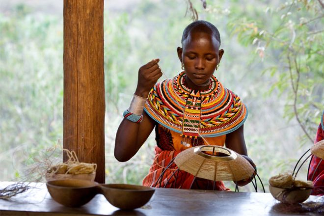 Ol Malo House Samburu Workshop Basket Making