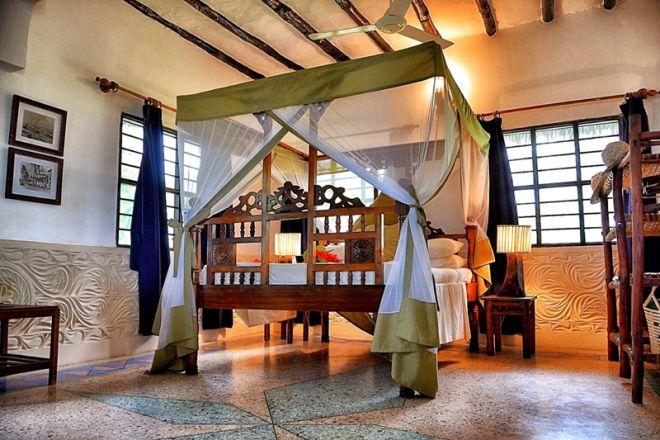 Pongwe Beach Hotel bedroom