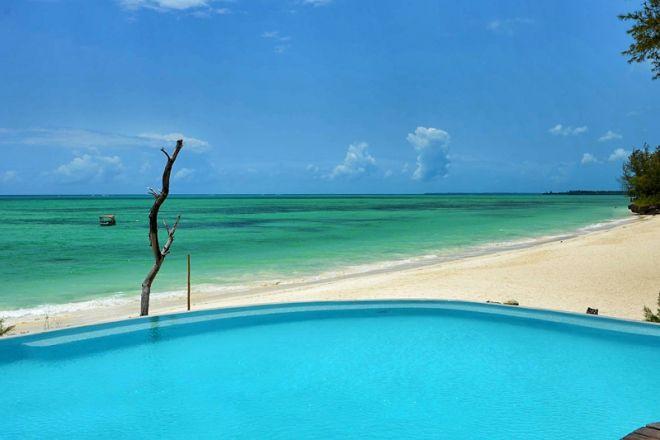Pongwe Beach Hotel pool and beach
