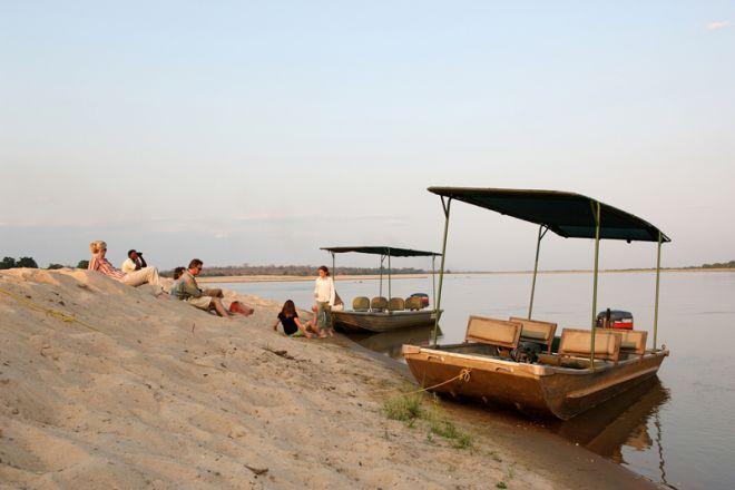 Sand Rivers Selous family boat trip