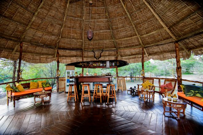 Selous Impala Camp bar