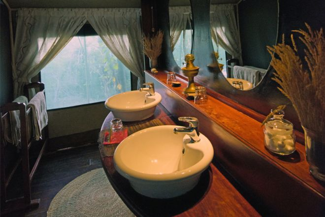 Selous Impala Camp bathroom