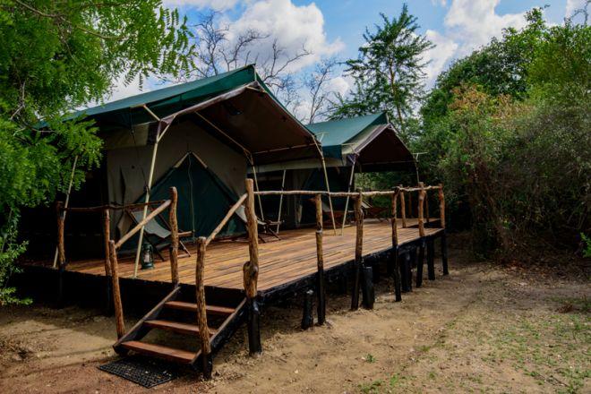 Selous Impala Camp family tent exterior