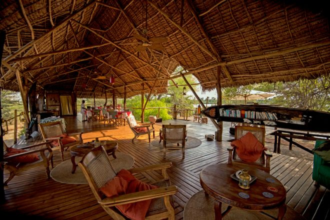 Selous Impala Camp lounge